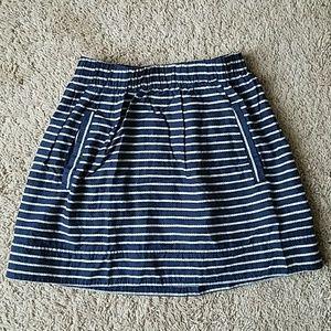 J. Crew Nautical Rope Print Skirt Sz. XXS